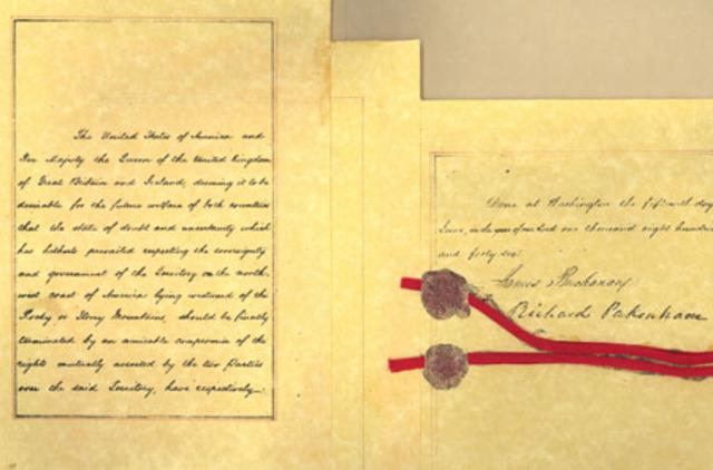 The Oregon Treaty is Signed (British Columbia)