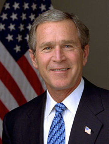 George W. Bush is inaugurated as the 43rd President of the United States.