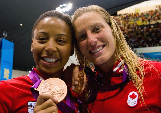 Synchro divers Heymans & Abel win 1st medal for Canada