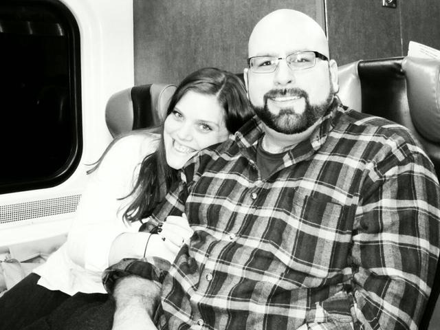 Engaged on the Train - nothing like Snakes on a Plane