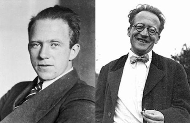 Erwin Schrodinger, Werner Heisenberg, & other scientists