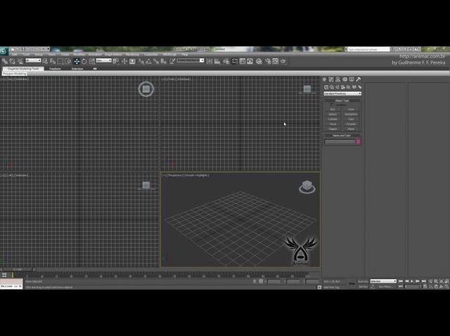 Lançamento de software de animação 3D