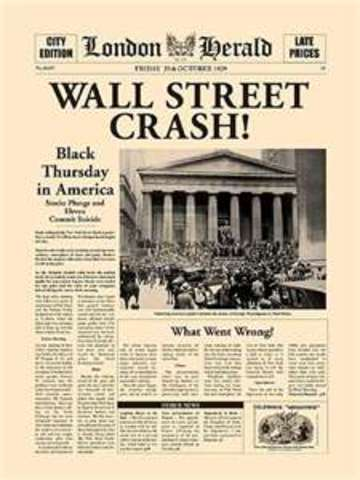 The Wall Street crash, symbolic start of the Great Depression, finds the German economy already in decline, and leads to the withdrawal of American short-term loans.