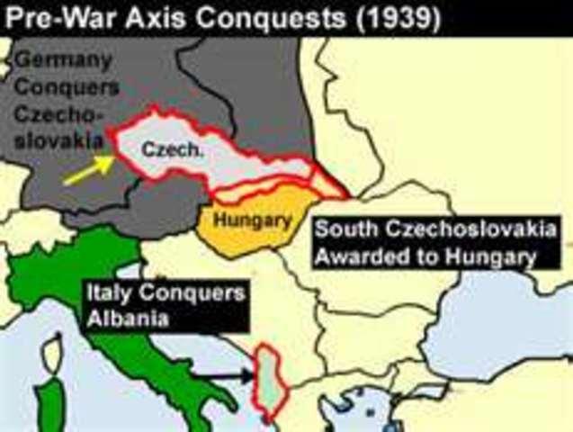 Germany occupies Czechoslovakia
