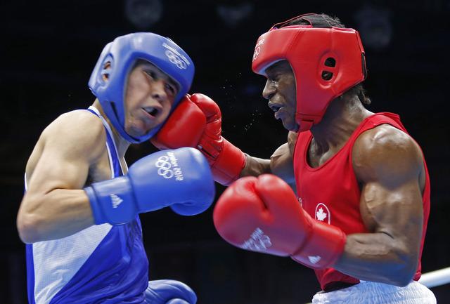 Custio Clayton reaches quarters in boxing
