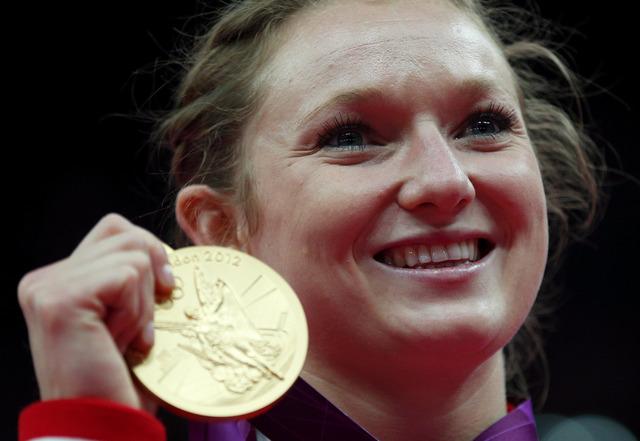 Rosie MacLennan wins gold in trampoline