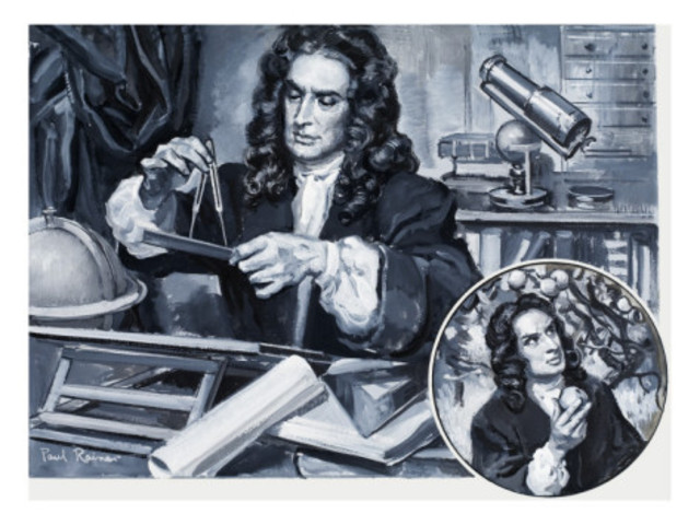 Sir. Isaac Newton Publishs Today's Laws on Gravity