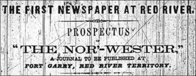 The First Edition Nor'Wester Newspaper (Prairies)