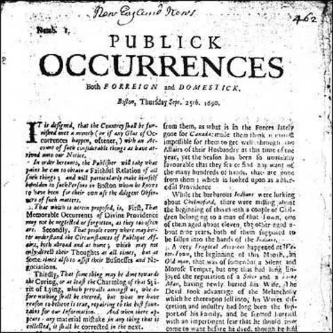 Primer Periódico de América