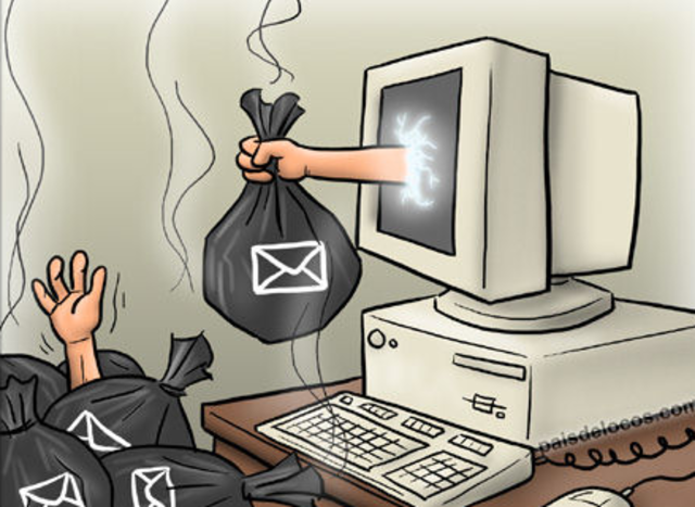 Vemos indicios del correo basura o Spam