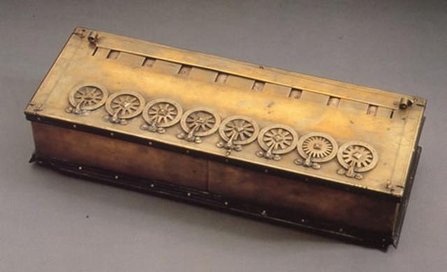 la primera maquina de calcular mecanica