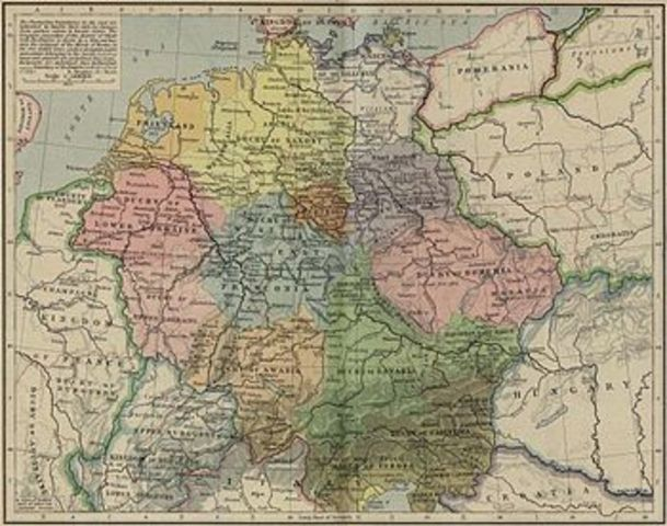 Formation of the duchies of Franconia, Saxony, Bavaria and Lorraine