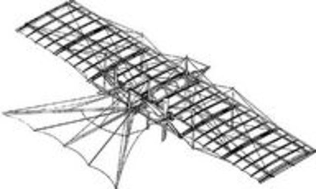 First known design for a propeller-driven fixed-wing aircraft