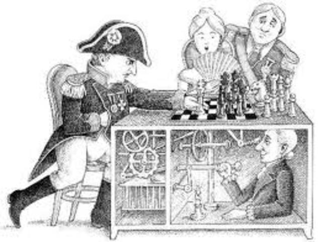 """El Jugador de Ajedrez Autómata, """"El Turco"""", fue inventado por el Barón Wolfgang von Kempelen"""