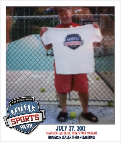 Inaugural Homerun Champion, Mt. Creek Sports Park
