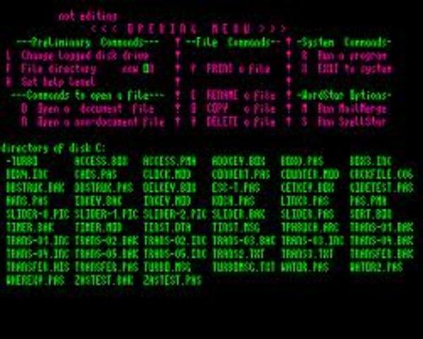 Se desarrolla el famoso procesador de textos WordStar