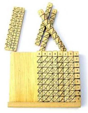 Palillos con números impresos