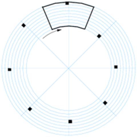 Invención del disco para análisis mecánico de imágenes.