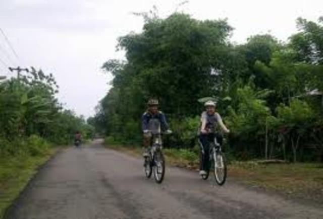 Biking with Austin