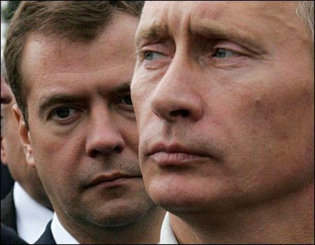 Dimitri Medvedev takes power from Vladimir Putin in Russia