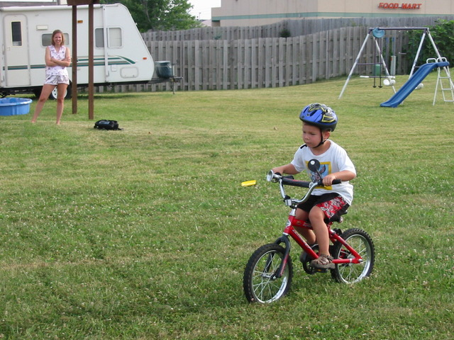 First time riding a bike with no training wheels