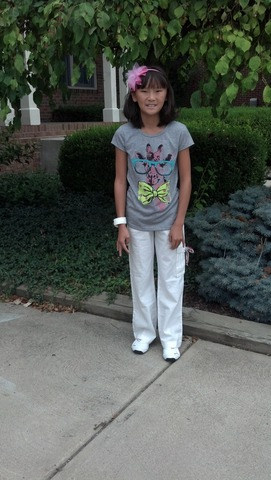 First day of fifth grade!!