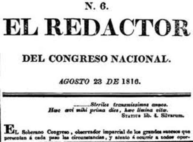 El diario El Redactor General sale a circulación