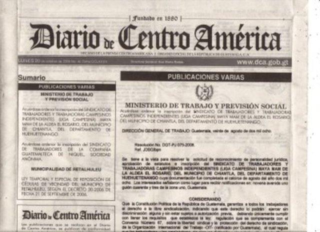 Se funda el Diario de Centroamérica