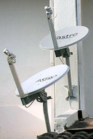 Tv via satélite