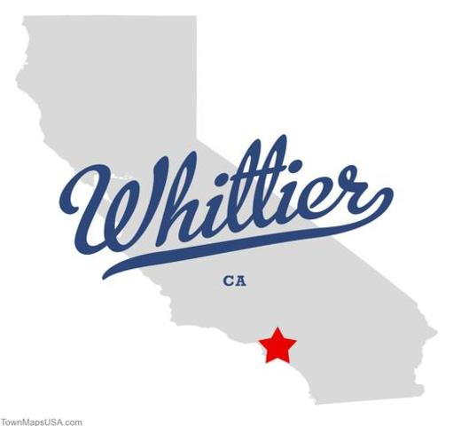I was born in Whitter, CA
