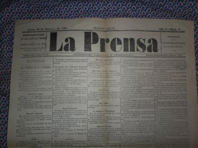 Diario La Prensa, de Argentina sale a circulación