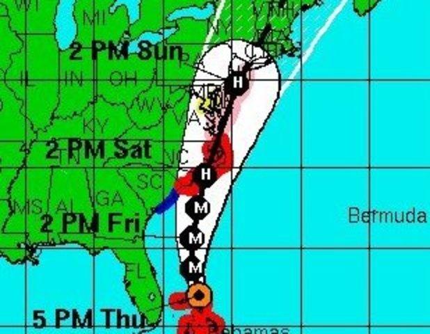 Irene Approaches Northeast
