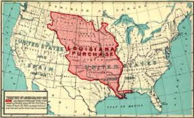 U.S purchases Louisiana Territory