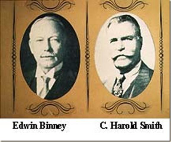 Edwin Binney and Harold Smith invent Crayola Crayons.