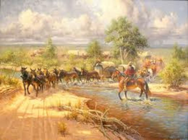 Mexico declared independence from Spain and the Santa Fe Trail opened