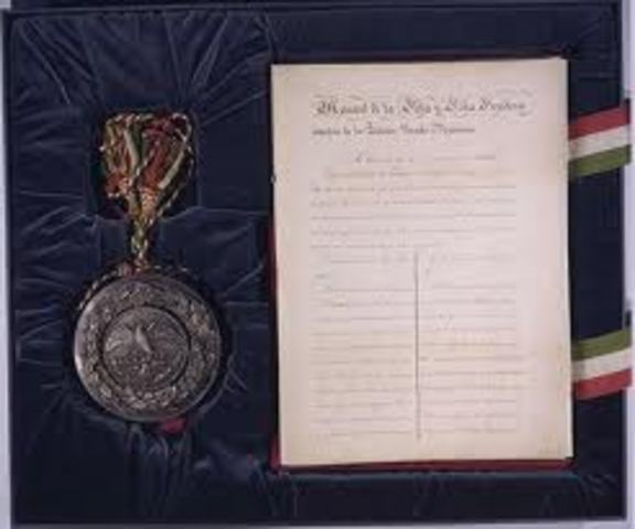Mexican-American War ended, and Treaty of Guadalupe Hidalgo signed