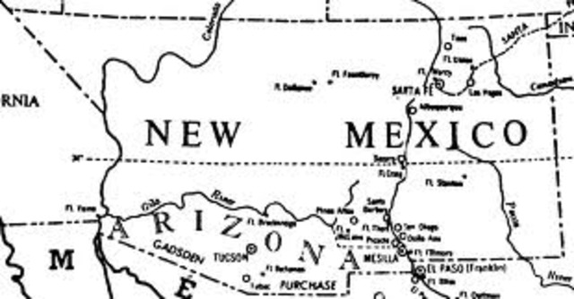 New Mexico was designated a territory, but denied statehood