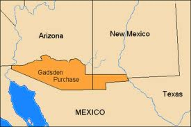 Gadsden Purchase added 45,000 square miles of territory