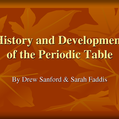 The History Of The Development of the Periodic table  timeline
