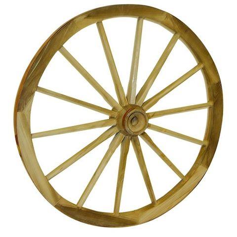 La roue en bois cerclée