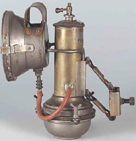 La lampe à acétylène