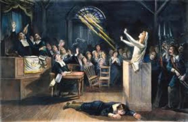 Salem witch trials took place.