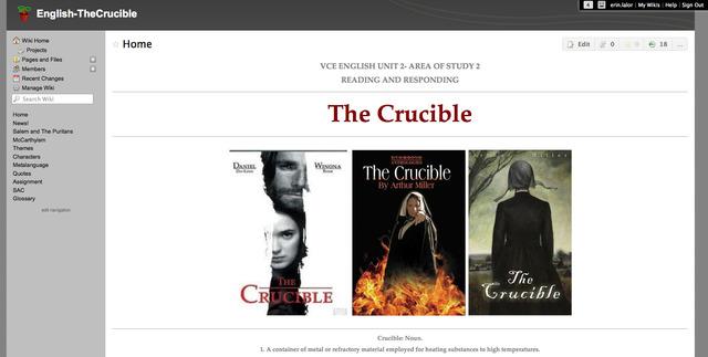 (3) The Crucible Wiki Presentation