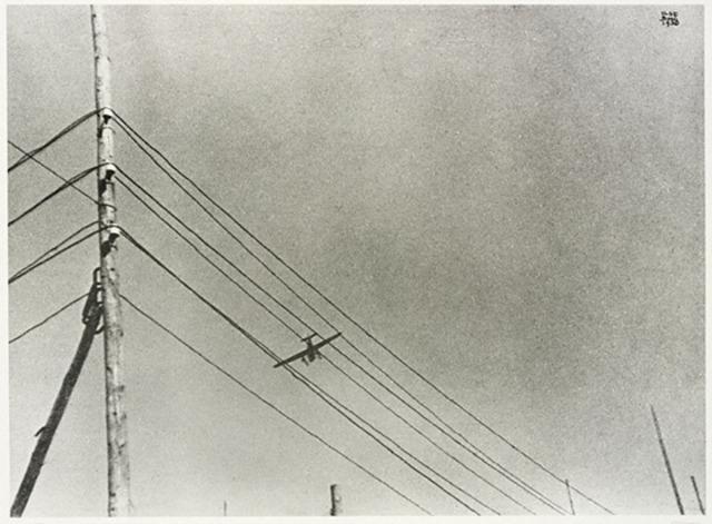 The first transcontinental telegraph line