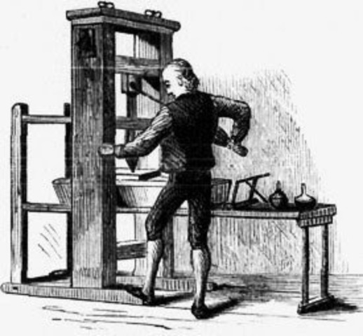 First Colonial Printing Press