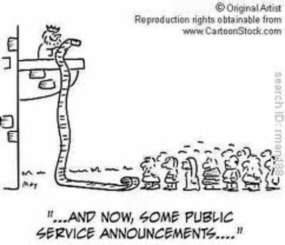 1st Public Service annoouncement air