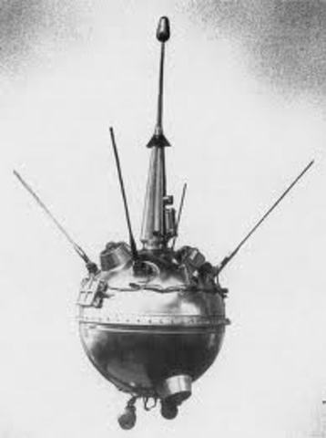 First aircraft on the moon