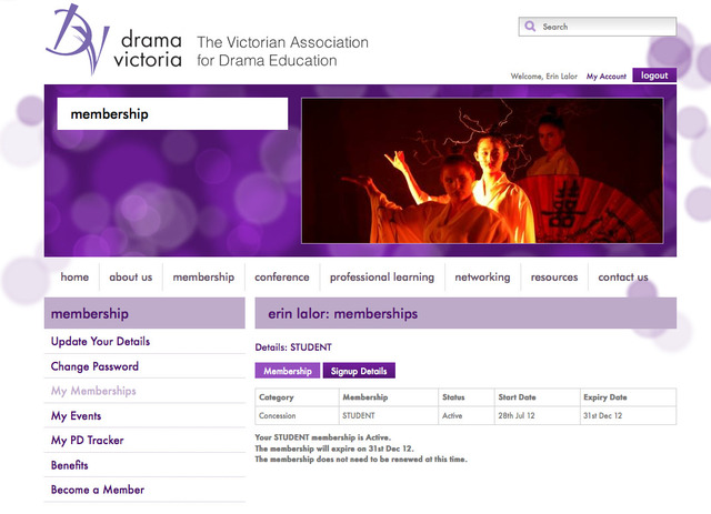 (4) Joined Drama Victoria