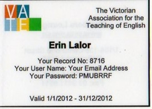 (4) Joined Victorian Association of Teachers of English