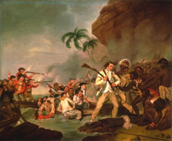 Captain Cook's  DEATH at Hawaii